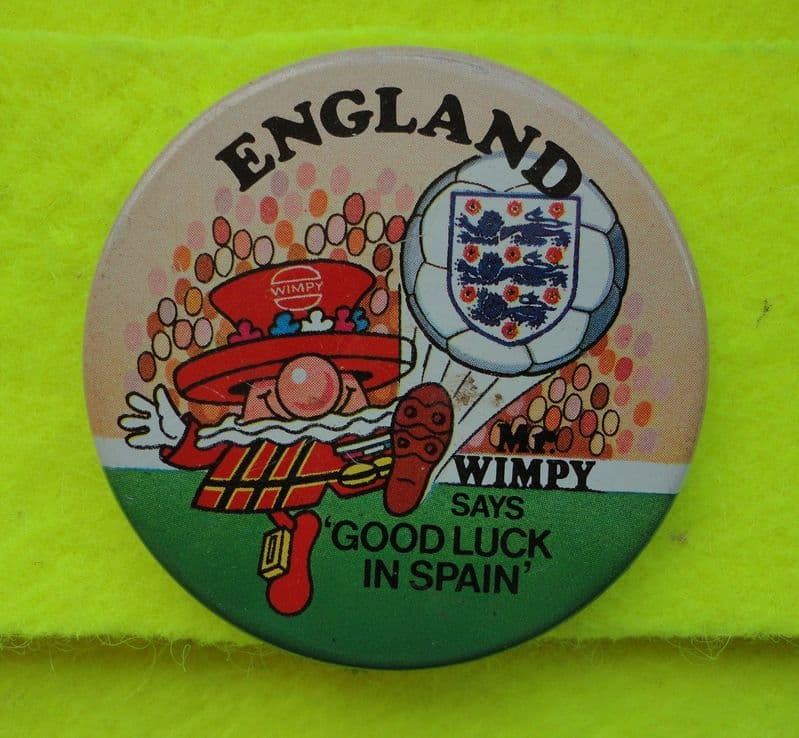 England Mr Wimpy World Cup Badge
