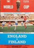 England v Finland, World Cup Qualifier (1976, 13th Oct) PLUS TICKET