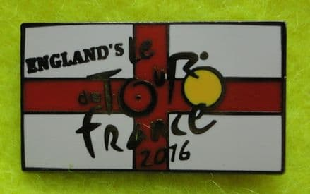 "EURO 2016, ""England's Le Tour de France"" Enamel Pin Badge"