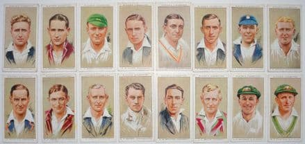 "John Player ""Cricketers, 1934"" Cards (16 of 50)"