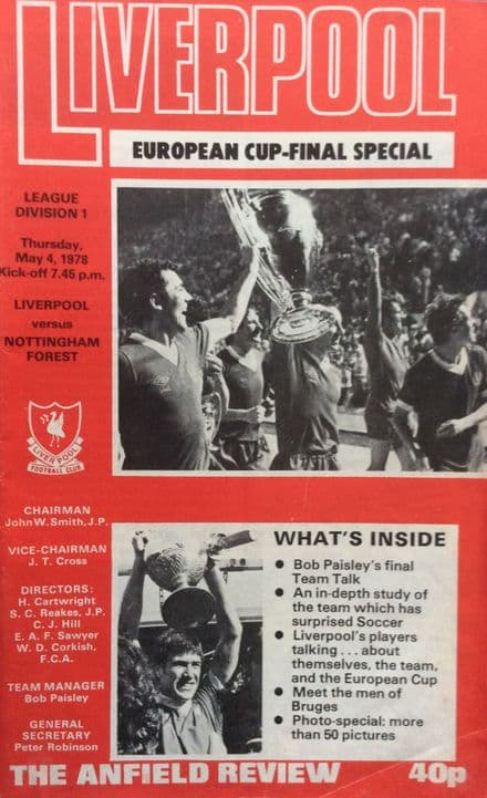 Liverpool v Nottingham Forest, Division 1 (1978, May 4th)