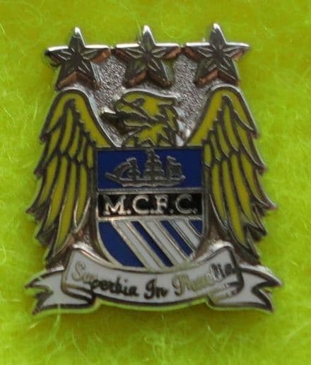 Manchester City Current Logo Enamel Pin Badge