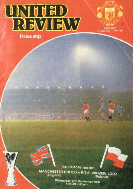 Manchester United v RTS Widzew Lodz, UEFA Cup (1980, September 17th)
