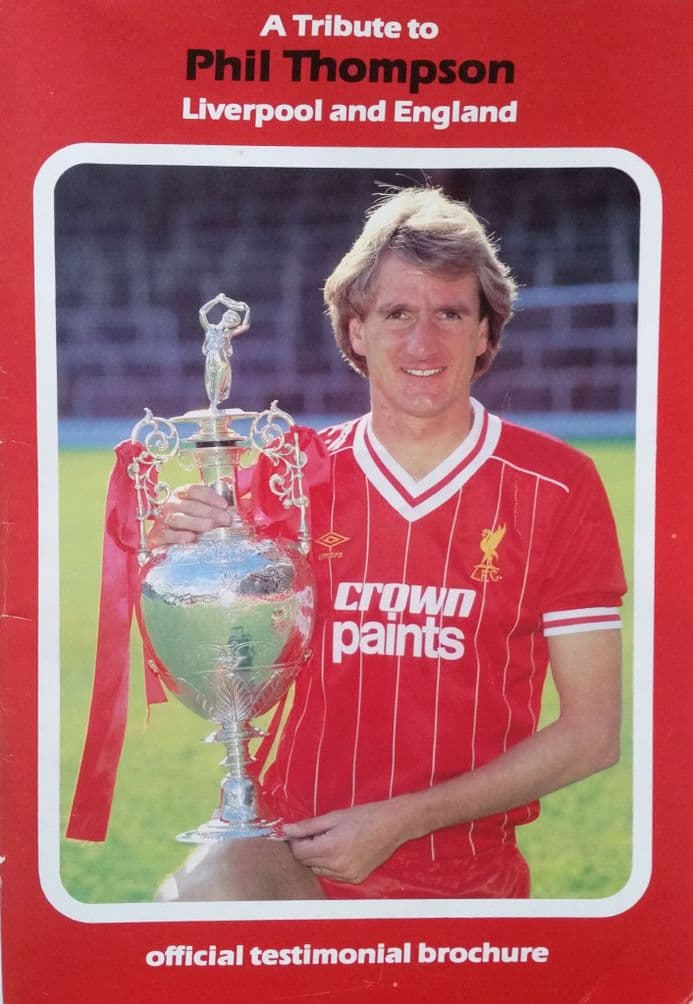 Phil Thompson Official Testimonial Brochure (SIGNED) & Photo