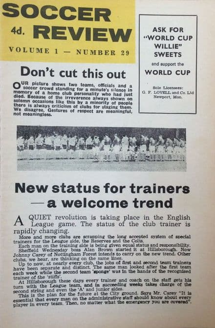 Soccer Review, Vol 1 No.29 (1966)