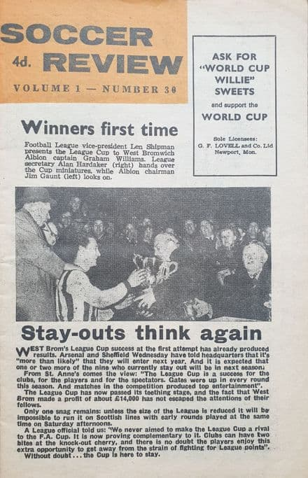 Soccer Review, Vol 1 No.30 (1966)