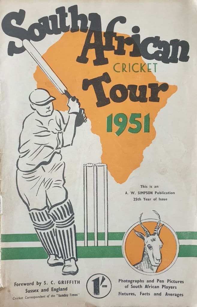 South African Cricket Tour 1951 SIGNED