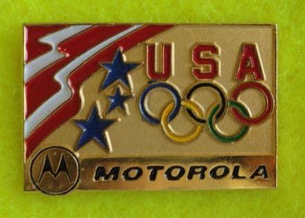 USA Olympic Association Motorola Enamel Pin Badge