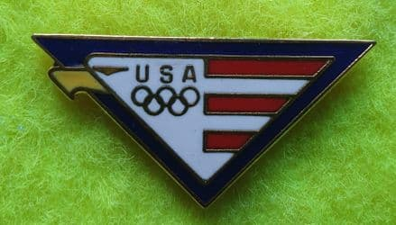 USA Olympic Eagle Enamel Pin Badge