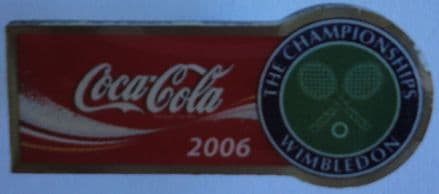 Wimbledon Coca-Cola (Horizontal) Pin Badge 2006