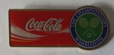 Wimbledon Coca-Cola (Large Horizontal) Pin Badge