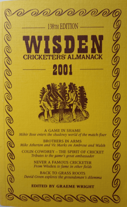 Wisden (2001) 138th Edition ed by Graeme Wright (Soft Cover - Excellent Condition)