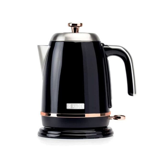 Haden Salcombe Black And Copper 1.7-Litre Kettle