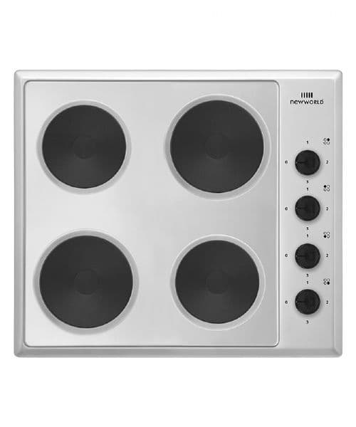 New World NWSP60X 60cm Wide Silver Solid Plate Hob