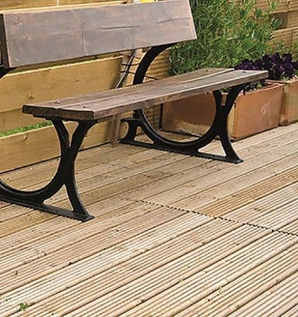 Redwood Timber Decking Board Treated  28 x 145mm (priced per metre)