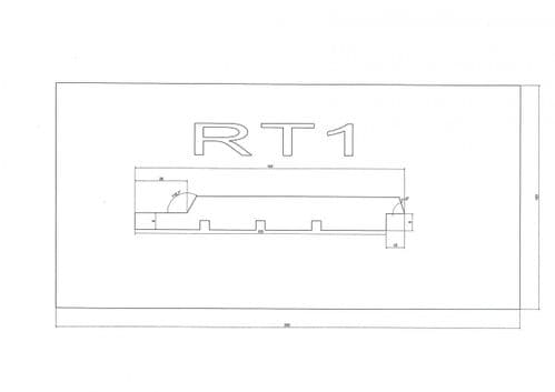 Standard Cladding Profile RT1 18 x 145/135mm - per linear metre