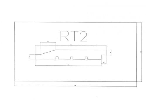 Standard Cladding Profile RT2 18 x 145/135mm - per linear metre