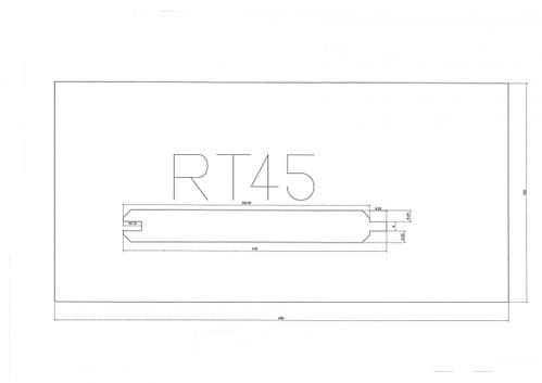 Standard Cladding Profile RT45 17.5 x 144/137mm - per linear metre