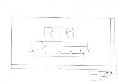 Standard Cladding Profile RT6 18 x 145/125mm - per linear metre