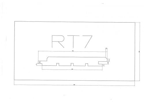 Standard Cladding Profile RT7 18 x 145/125mm - per linear metre