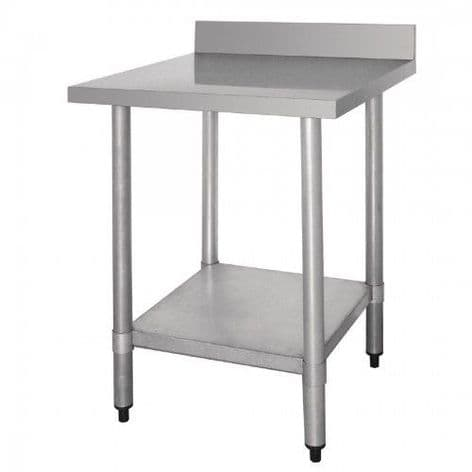 Stainless Steel Table 60 cm  with Splash Back