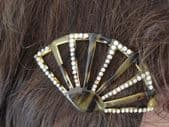 1920's/1930's Art Deco Faux Tortoiseshell Hairslide set with Diamante(Sorry this item has been sold)