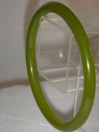 1920's Armlet Bangle in Jelly Green Celluloid (Sold)