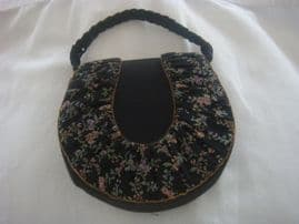 1940's Austrian Petit Point Bag - Horseshoe Shape