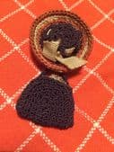 "1940s Hat and Handbag Brooch ""Make-do-and-mend"""