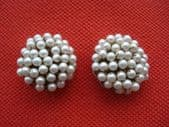 1950's - 1960's Faux Pearl Earclips signed Alice Caviness (SOLD)