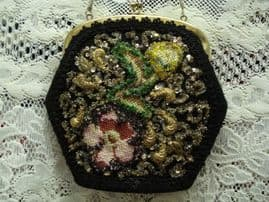 1950's American Hand Decorated Evening Bag