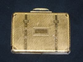 1950's Kigu Suitcase Compact - Rare and Collectable (Sold)
