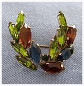 1950s Brooch - Victory Laurel Style Pin - Gorgeous Vintage Designer Jewellery
