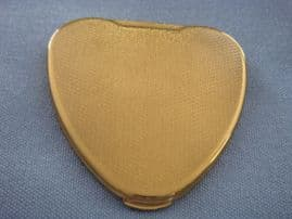 1950s Compact - Heart Shaped 'Cherie' Signed KIGU - Gold Compact