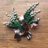 1960's Brooch - Lucky White Heather signed Exquisite  (SOLD)