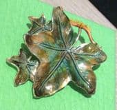 1960's Ivy Leaf Brooch - Variegated  Leaf Pin By Exquisite England (SOLD)