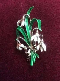 1960's signed Exquisite Snowdrop Brooch (Sold)