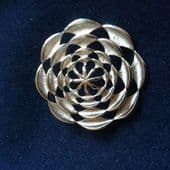 1960s - 1970s Modernist Brooch by Sarah Coventry - Silver tone Open Circle (SOLD)