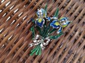 A 1960s Vintage Exquisite Iris Brooch -  Larger Sized Brooch