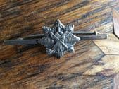 A Royal Scots Association Silver Bar Pin - Edwardian  Brooch - Edinburgh 1910