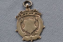 A Sterling Silver Fob Medal - Vacant Shield - Birmingham 1934