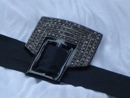 Art Deco Celluloid Buckle or Hat Trim set with Diamante Circa 1930's  (SOLD)