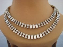 Art Deco Diamante Collar - 1940s High Quality Costume Jewellery (SOLD)