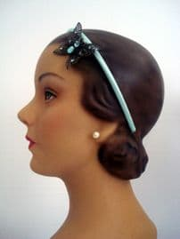 Butterfly Girl - New Hair Band with an Edwardian Butterfly Brooch (sold)