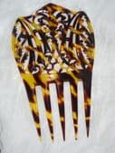 Chunky Celluloid Faux Tortoiseshell Haircomb Circa 1900- 1920 (sold)