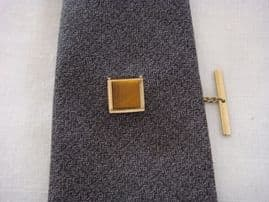 Classic 1970s Tie Tack - Inset with Real Tiger Eye Stone (SOLD)