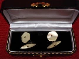 Edwardian to 1920's Mother of Pearl Cufflinks (SOLD)