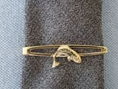 Fisherman's Tie Pin - Leaping Salmon tie Clip by Stratton (SOLD)