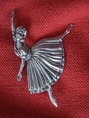 Massingham Silver Ballerina Brooch -1940's Era  (SOLD)