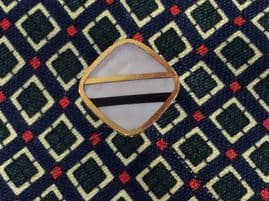 Mother of Pearl Square Tie Tack - Circa 1960s